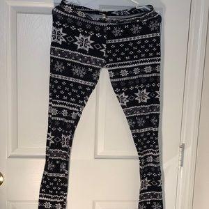 black & white patterned bozzolo leggings